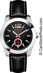 Analog Men's Wrist Watch vector - Classic Analog Men's Wrist...
