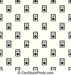 Analog multimeter pattern seamless vector repeat geometric for any web design