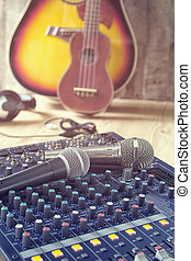 Analog music recording equipment