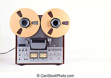 Analog Stereo Open Reel Tape Deck Recorder Player with Metal Reels