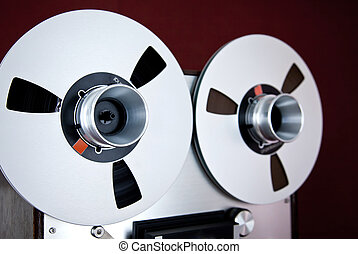 Analog Stereo Open Reel Tape Deck Recorder Spool
