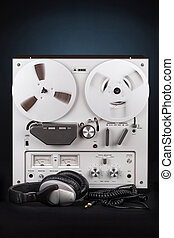 Analog Stereo Reel Tape Deck Recorder Player