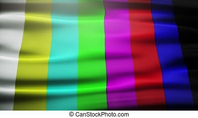 analog TV signal with bad interference, static, and color...