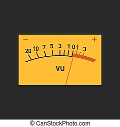 Analog Volume Unit Meter Measuring Device. Vector illustration