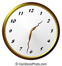 Analogue clock - Illustration of an analogue clock with...