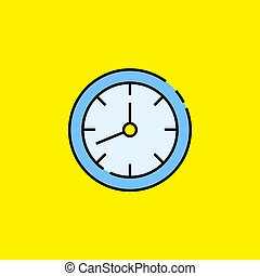 Analogue clock line icon