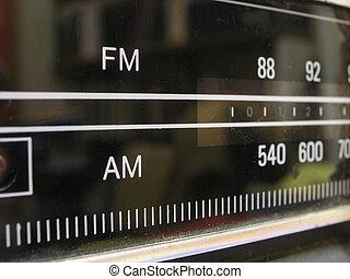 Analogue radio - Abstract close-up detail of retro analogue ...
