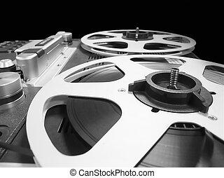 analogue sound editing - Macro of analogue sound editing...