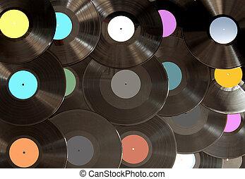 Analogue vinyl records background