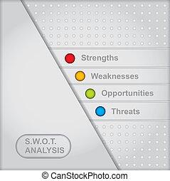 analys, diagram, swot