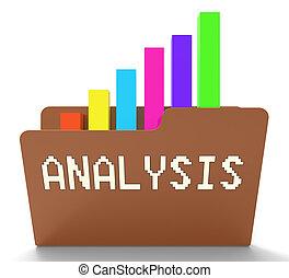 analyse, bestand, optredens, analytics, grafiek, 3d, vertolking
