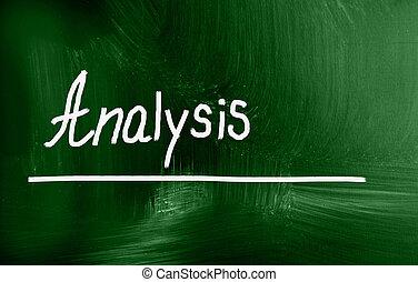 analyse, concept