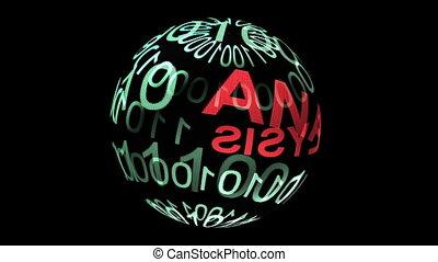 analyse, données, sphère, rotation, binaire