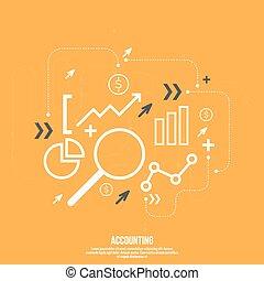 analyse, et, financier, management.