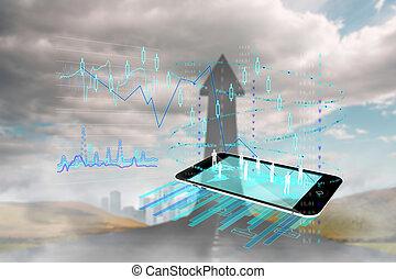 analyse, image, composite, fond, données