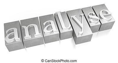 Analyse - letterpress
