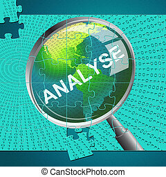 Analyse Magnifier Indicates Data Analytics And Analysis -...