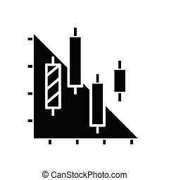 analyse, symbool, pictogram, technisch, vector, illustratie, black , diagram, plat, glyph, concept, teken.