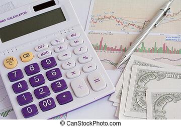 analyse, tabellen, und, schaubilder