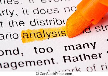 analyse, woord