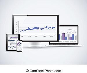 analyser, statistiques, financier, t