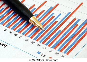 analyseren, de, trend, van, een, tabel