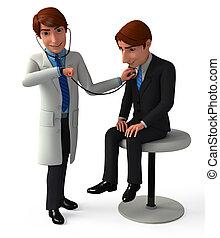 analyseren, patiënt, arts