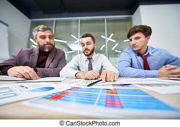 analysieren, finanzielle figuren
