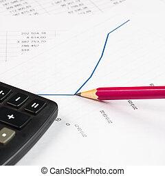 analysieren, investition, tabellen