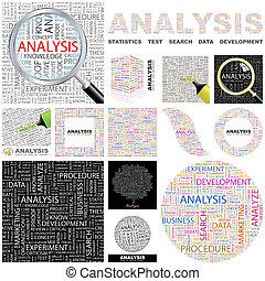 analysis., begreb, illustration.
