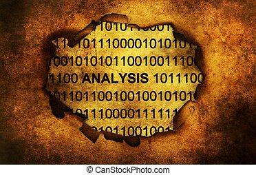 Analysis binary data grunge concept