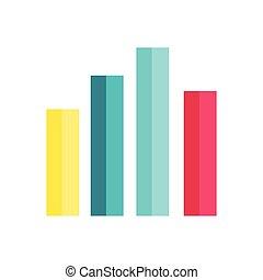 Analysis Data Charts Isolated on White.