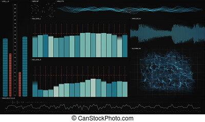 analysis data technology interface loopable animation -...