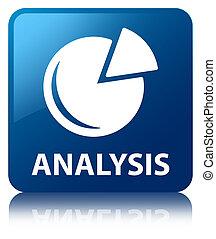 Analysis (graph icon) blue square button