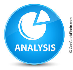 Analysis (graph icon) elegant cyan blue round button