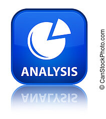 Analysis (graph icon) special blue square button