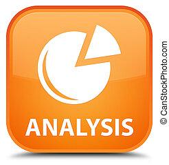 Analysis (graph icon) special orange square button