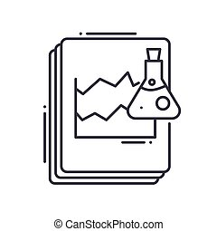 Analysis icon, linear isolated illustration, thin line vector, web design sign, outline concept symbol with editable stroke on white background.