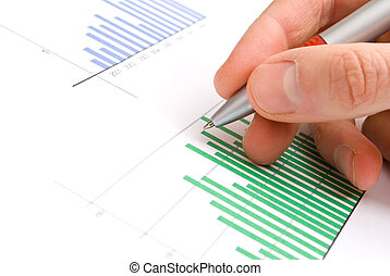 Analysis of business graphs.