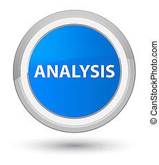 Analysis prime cyan blue round button