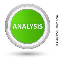 Analysis prime soft green round button