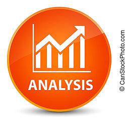 Analysis (statistics icon) elegant orange round button