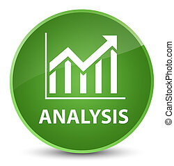 Analysis (statistics icon) elegant soft green round button