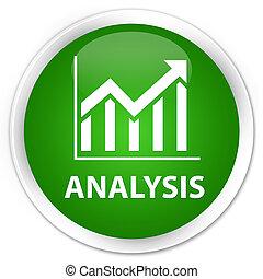 Analysis (statistics icon) premium green round button