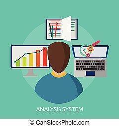Analysis System Conceptual illustration Design