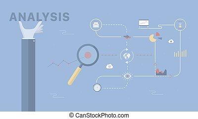 Analysis vector background.