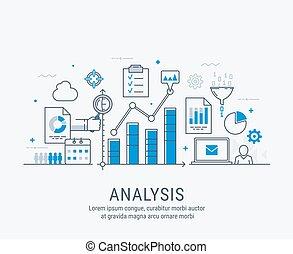 Analysis vector illustration