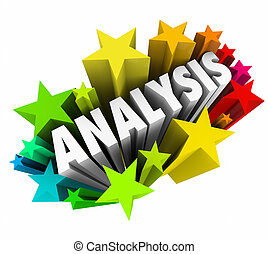 Analysis Word 3d Stars Analyze Meaning Data Information
