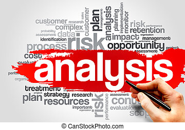 ANALYSIS word cloud, business concept