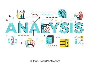 Analysis word lettering illustration